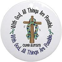 Cafepress–Croce con Dio autismo ornamento (rotondo)–Round Holiday Christmas Ornament