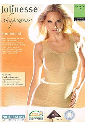 Jolinesse® Damen Unterhemd - Formhemd - S M L XL - LYCRA® beauty Hautfarben