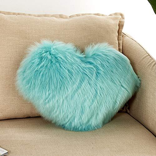 TianranRT Herz geformt werfen Kissen Kissen Plüsch Kissen Geschenk Zuhause Sofa Dekoration (I)