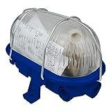 OVAL Kellerlampe Kellerleuchte Schiffsarmatur max. 60W E27 blau 421174