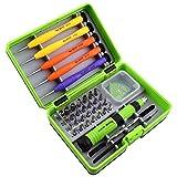 36-in-1Mehrzweck-Schraubendreher-Set, Profi-Reparatur-Werkzeug-Kit mit 28Stück Schraubendreher-Köpfen für iPhone/iPad/Computer/PC/Digitalkamera/Brillen/Samsung/Nokia/HTC und andere Geräte