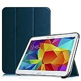 Fintie Hülle für Samsung Galaxy Tab 4 10.1 SM-T530 SM-T535 - Ultra Schlank Superleicht Ständer SlimShell Cover Schutzhülle Etui Tasche mit Auto Schlaf/Wach Funktion, Marineblau