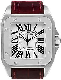 a4d2b20b7e2ee Cartier Santos 100 W20073X8 - Reloj automático para Hombre (Certificado  prepropietario)