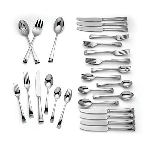 Lenox Urbane 51-Piece Flatware Set, Stainless Steel