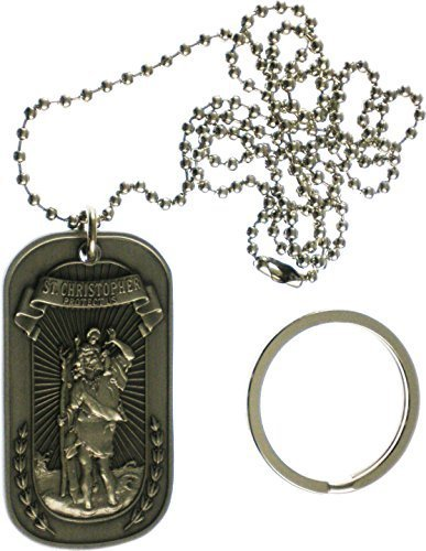 Dog Tags - Silver St. Christopher OSFM by Eagle Crest
