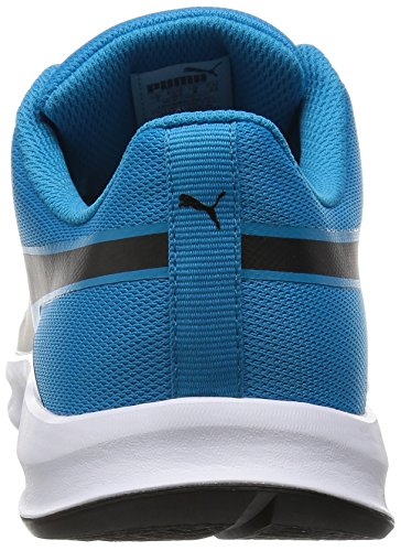 Puma Flexracer, Baskets Basses Mixte Adulte Bleu - Blau (atomic blue-black 08)