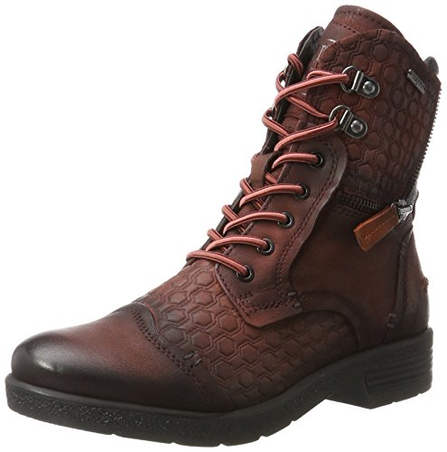 Bugatti Damen 421328303569 Stiefel, Rot (Dark Red/Dark Grey), 38 EU (Rot Band Schuhe)