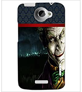 PrintDhaba Scary Image D-3995 Back Case Cover for HTC ONE X (Multi-Coloured)