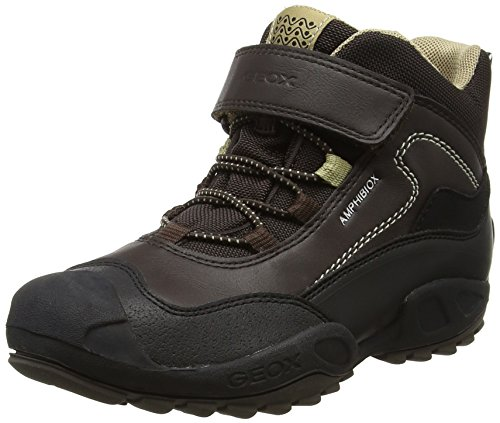 Geox Jungen J New Savage Boy B Abx A Hohe Sneaker, Braun (Brown/Beige), 37 EU
