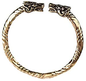 bracelet en bronze viking tete de dragon game of bijoux. Black Bedroom Furniture Sets. Home Design Ideas