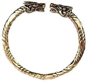 bracelet en bronze viking tete de dragon game of