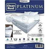 CleanRest Platinum Waterproof, Allergen Bed Bug Blocking Quilted Pad Encasement Twin Mattress Protector