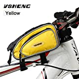 #8: Bicycle Bag Front Top Tube Bag Cycling Bike Frame Saddle Package For Mobile Phone Waterproof Bike Accessories Bicycle Rack Bags