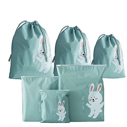 Abaría - 6 piezas chicas organizador para maletas - Bolsos del almace