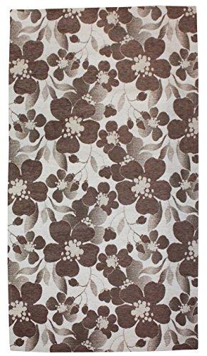 Teppich Rutschfest Möbel Haus Mehrzweck Aromatic Florenz Chenille ideal für Bad Küche Kinderzimmer oder Wohnzimmer cm 120 x 170 Beige / Marrone (Florenz Beige-teppich)