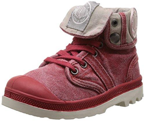 Palladium Baggy, Boots mixte enfant Rouge (Red)