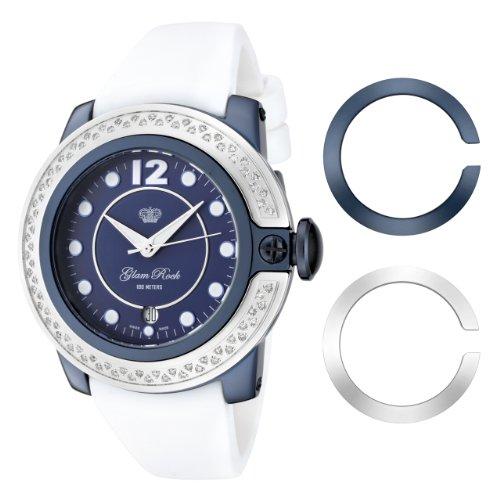 Glam Rock GR32049D - Reloj de Pulsera Mujer, Silicona, Color Blanco