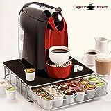 Maison futée - Support machine à café avec tiroir de rangement pour capsules