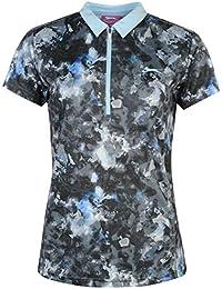 Slazenger Damen Fashion Golf Polo Shirt Kurzarm Leicht Polohemd Abstrakt Muster