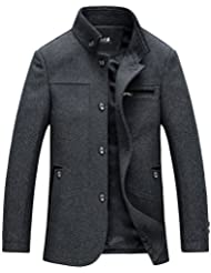 Zicac -Manteau & Veste homme en laine de mélange avec col stand