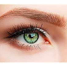ELFENWALD farbige Kontaktlinsen, SUPREME GRÜN, besonders natürlicher Look, maximaler Tragekomfort, ohne Stärke, 1 Paar weiche Farblinsen, inkl. Behälter und Anleitung
