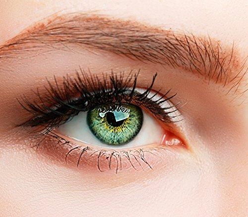 ELFENWALD farbige Kontaktlinsen, SUPREME GRÜN, stark deckend, besonders natürlicher Look, maximaler Tragekomfort, ohne Stärke, 1 Paar weiche Farblinsen, inkl. Behälter und Anleitung (Natürliche Kontaktlinsen Farbige)