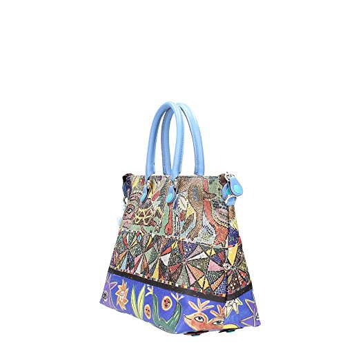 GABS - Katia Tg L - Shopping Studio Print, Borsa Donna Multicolore (318 - Decoro)