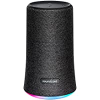 Soundcore Flare Tragbarer & Kompakter Bluetooth Lautsprecher, 360° Rundum-Sound, Fantastischer Bass & Stimmungs-LED-Licht, IPX7 Wasserdichte, Enorme Akkulaufzeit