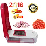 Ganesh 2 Blade Fruit & Vegetable Dicer/Slicer/Chopper And Shredder In Red Colour, Manual Multipurpose Stainless Steel Blade Vegetable Cutter And Chopper For Kitchen/Home At Best Quality On Low Price