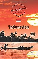 JetLagJournals • Reisetagebuch Indonesien: Erinnerungsbuch zum Ausfüllen und Selberschreiben   Ideal als Abschiedsgeschenk für Reisende nach Bali, Jakarta und mehr