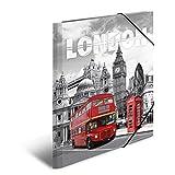 Herma 7276 Sammelmappe DIN A3 Kunststoff, Motiv England London, Serie Städte, Eckspanner, 1 Zeichenmappe
