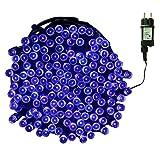 Tuokay Innen Lichterkette mit Stecker, 23m 200 LED 8 Modi Wasserdicht LED Weihnachtsdeko, Weihnachtsbeleuchtung für Balkon, Terrasse, Hof, Garten, Hochzeit, Weihnachtsbaum, Party, Fest Deko (Blau)