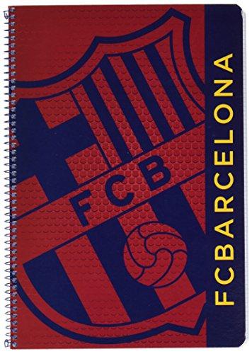 Safta 511572066 Notizbuch FC Barcelona, 80 Blatt, Hardcover - Blau/Granit.