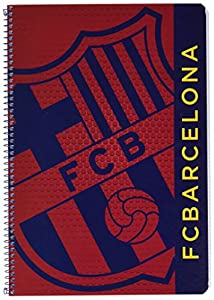 Futbol Club Barcelona- F.C Barcelona Libreta Folio 80 Hojas Tapas duras, Color Azul/Granito (SAFTA 511572066)