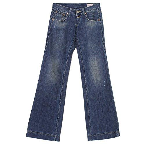 Herrlicher, Judie, Damen Jeans Hose, Denim, darkblue vintage, W 25 L 34 [18917] (Rise Low Leg-hosen Wide)