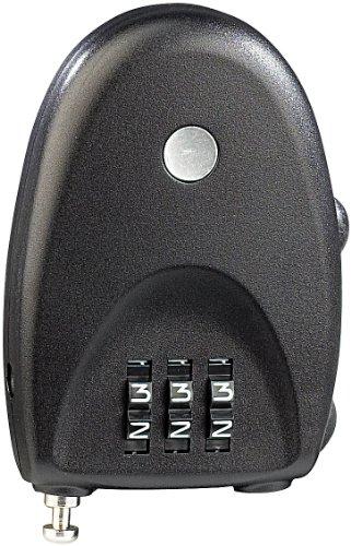 AGT Reise-Sicherheits-Zahlenschloss mit ausziehbarem 67-cm-Drahtseil