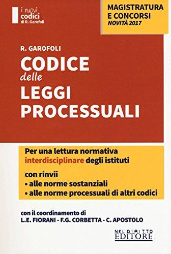 Codice delle leggi processuali con rinvii alle norme sostanziali
