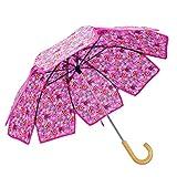 Paraguas Creativa Aceite de Tung Pétalo Paraguas Retro Literatura y Arte Sra Tubo Recto de Mango Largo Paraguas sombrilla (Color : # 1)