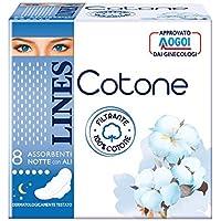 Lines Cotone Ultra Notte con Ali, 48 Assorbenti