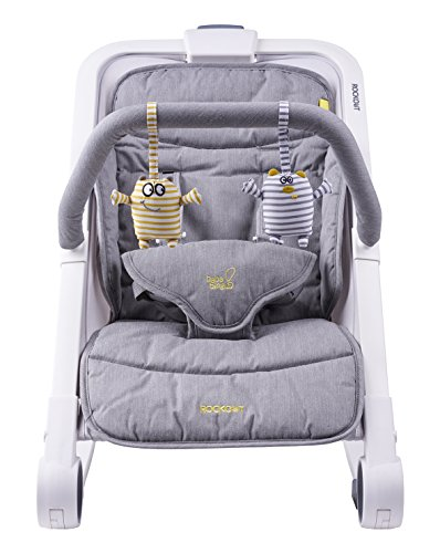 Bababing Rockout 3 Position Baby Rocker/Bouncer, Grey 51MLpf4dn1L