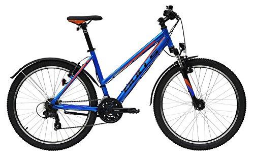Damen Fahrrad 27.5 Zoll blau - Bulls Cross Bike Sharptail Street 1 - Shimano Schaltung 21 Gänge, Licht, Schutzbleche (Damen Gang Street Blauer)