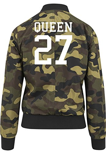 Queen 27 Bomberjacke Girls Camouflage Certified Freak-L