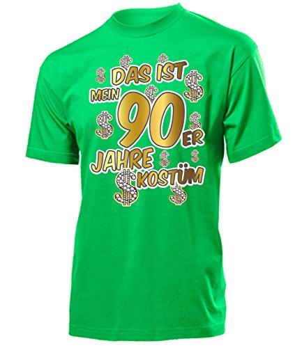 Das ist mein 90er Jahre Kostüm 4524 Herren T-Shirt (H-Kellygreen) Gr. XL (90er-jahre-kostüme)