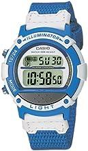 Casio CASIO Collection - Reloj digital unisex de cuarzo con correa textil azul (cronómetro, alarma, luz) - sumergible a 50 metros
