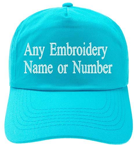 Bordados personalizados en el Reino Unido. Cualquier nombre o letra, muchos colores de sombreros y muchos colores de hilo de coser.   Se venden y distribuyen en todo el mundo solo por 4SOLD.   Todas las gorras son tamaños infantiles de la más alta c...