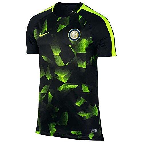 2017-2018 Inter Milan Nike Pre-Match Training Shirt (Black) (Shirt Milan Training)