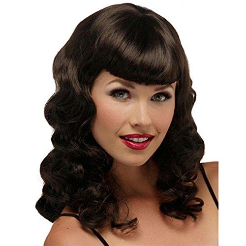 (longlove New Fashion Lange Kindly, welliges Haar Full Perücken für Frauen üblichen Life)