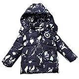 AMYMGLL Veste pour enfants hiver nouveaux garçons et filles coton manteau enfants épaississement à capuche doudoune veste pour enfants de 3 à 8 ans , gray green , 130