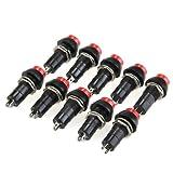 10 x Interruptor Conmutador 2 Posiciones On-Off 12V Negro Rojo