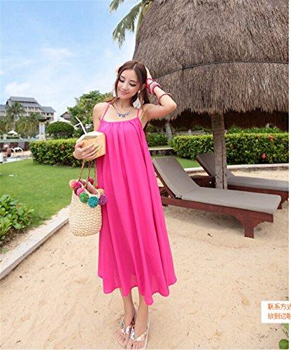 Qiyun 1077s0462–Robe pour femme Rose